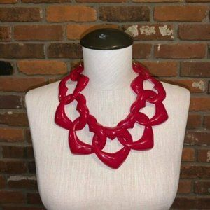 Diana Broussard Amore Heart Necklace In Red